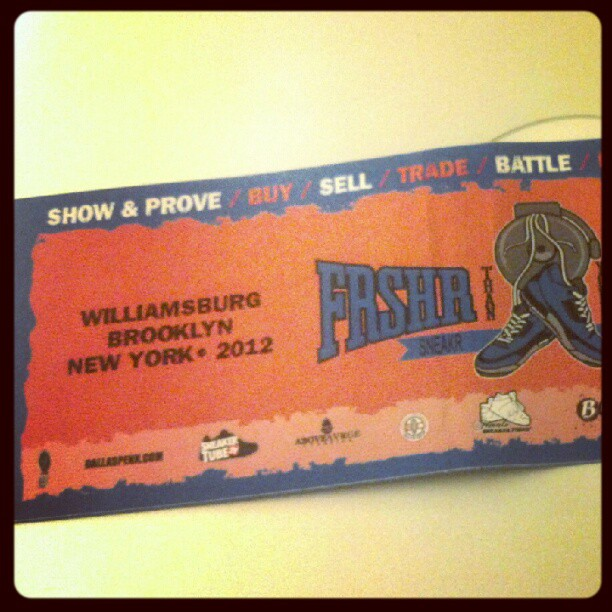 #sticker from the frshrthanyouravrge #sneaker #battle in #brooklyn #2012 many thanks to all that came out (Taken with  instagram )