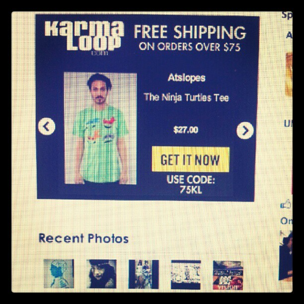 Just saw the ninja turtles #tee on a #karmaloop banner- very cool #teamkarmaloop (Taken with  instagram )