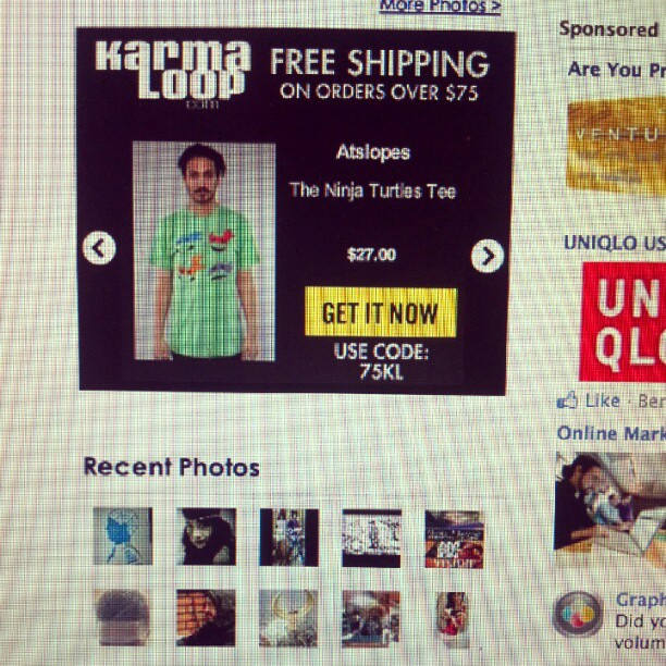 Just saw the ninja turtles tee featured in a karmaloop banner- nice (Taken with  instagram )