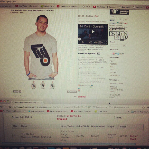 #restock now sold-out in heather grey #fly #tees #teamkarmaloop #karmaloop http://karmaloop.com/kazbah/brands/atslopes (Taken with instagram)