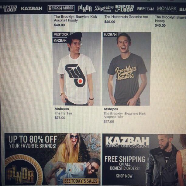 Selling & just #restocked on #karmaloop  http://karmaloop.com/kazbah/brands/atslopes  #tees #fashion #fly #clothing (Taken with  Instagram )