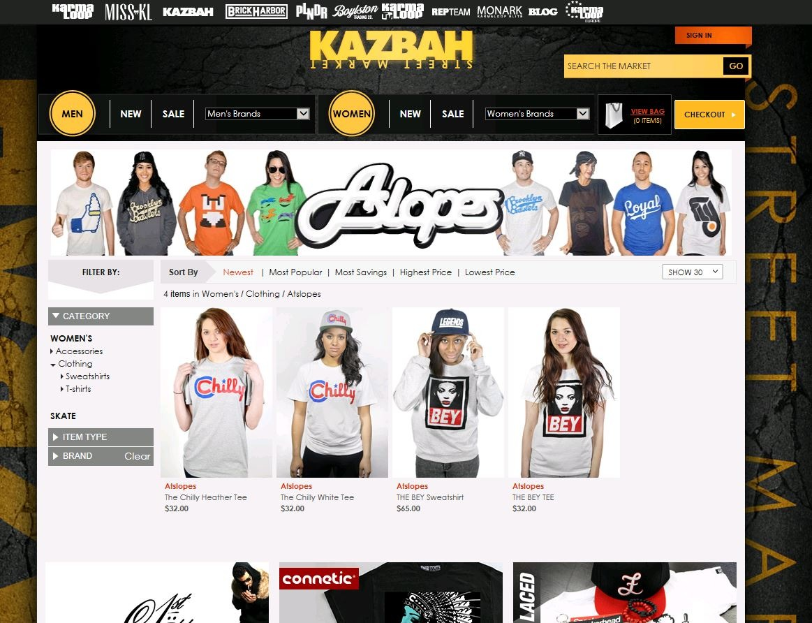 Our new women section on karmaloop