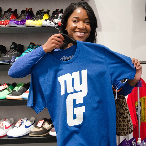 Go get the NYG tee at kicknetics in white plains,ny