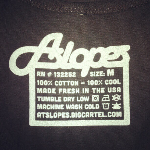 #Silver tag #new #tees http://atslopes.bigcartel.com (Taken with Instagram)