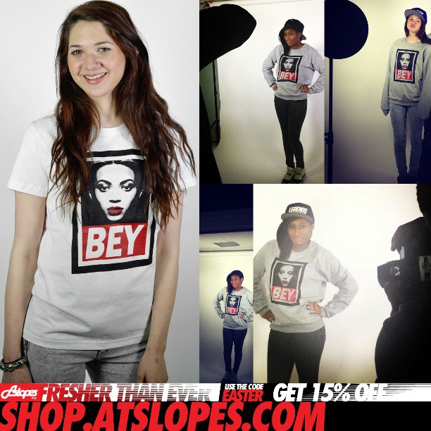 http://shop.atslopes.com now soldout in #bey #tshirts #beyonce almost soldout in #sweatshirts thanks @evaxtine @hannahohbanana #streetwear #spring #music #fresh #fun #love #black #red #wbite #fashion #girl #happy #sneakers #snapback #cute #rap #nice #model