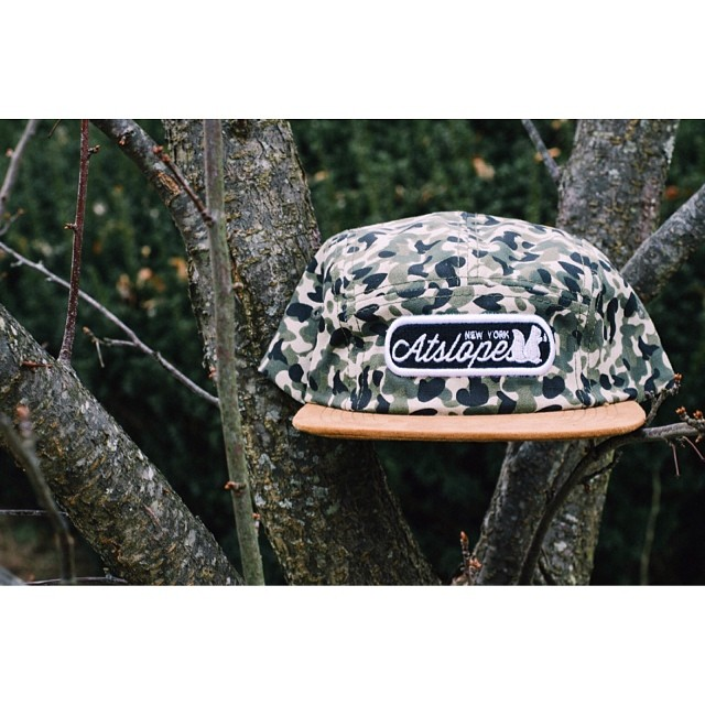 Camper hats in stock, camo pattern with a swede brim. Log on our website Atslopes.com to get one while supplies last