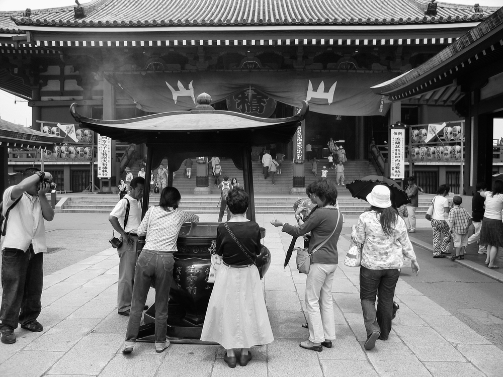 Incense burning in the heart of Sensō-ji in Asakusa, Tokyo.