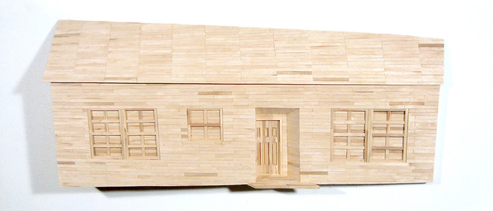 """$1500 - My House (my parents never let us have a dog because we didn't have a fence). Popsicle sticks. 48"""" x 21"""" x 8""""was $3700"""