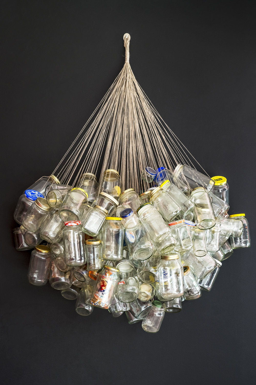 SOLD! - Found, kept, keeping. Collected jars, string, gravity. 30