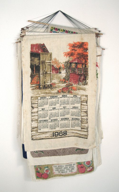 """$1968 - If she'd been a quilter she'd have made a quilt. Found & kept objects. 20"""" x 40""""was $3,000"""
