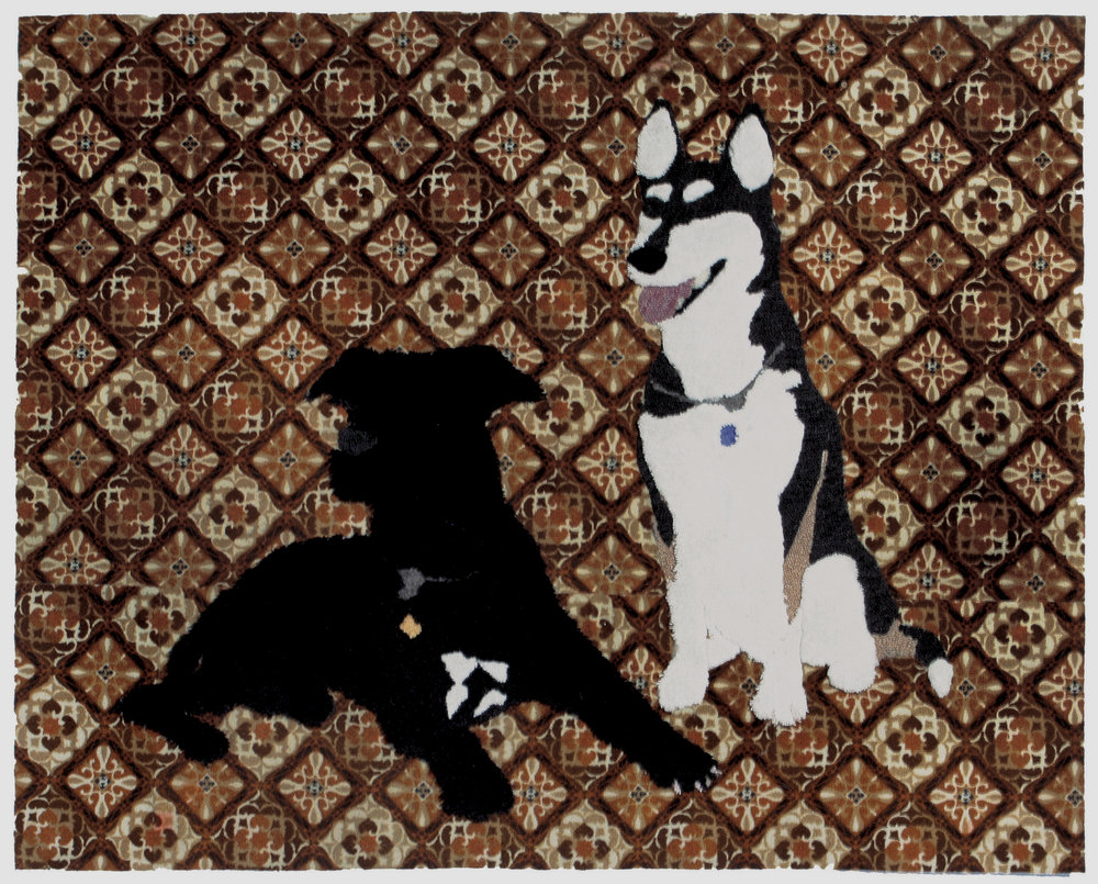$1800 - Tonta and her best friend. Various carpets. 5' x 4'was $3,000 – Commissions available