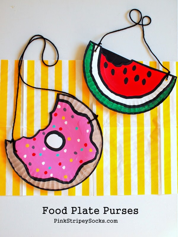 You need 2   paper plates   for each purse.  Here are the ways that I cut out both plates to make each purse: