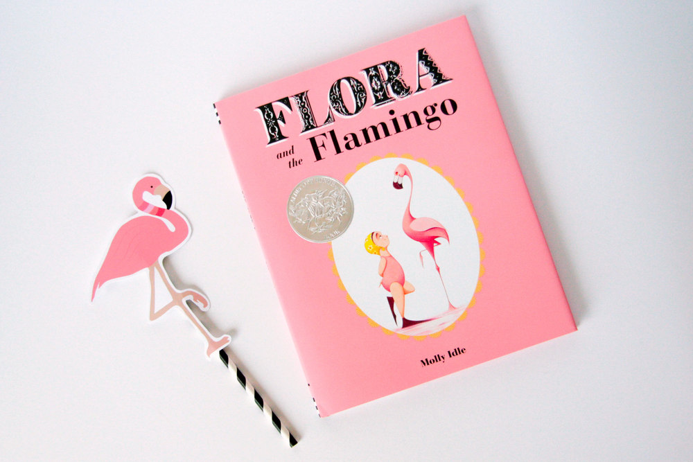 From the publisher,  Chronicle Books : In this innovative wordless picture book with interactive flaps, Flora and her graceful flamingo friend explore the trials and joys of friendship through an elaborate synchronized dance. With a twist, a turn, and even a flop, these unlikely friends learn at last how to dance together in perfect harmony. Full of humor and heart, this stunning performance (and splashy ending!) will have readers clapping for more !