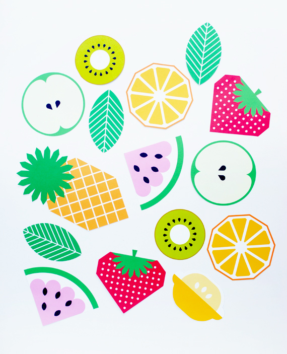 printable fruit garland from mini eco mini style