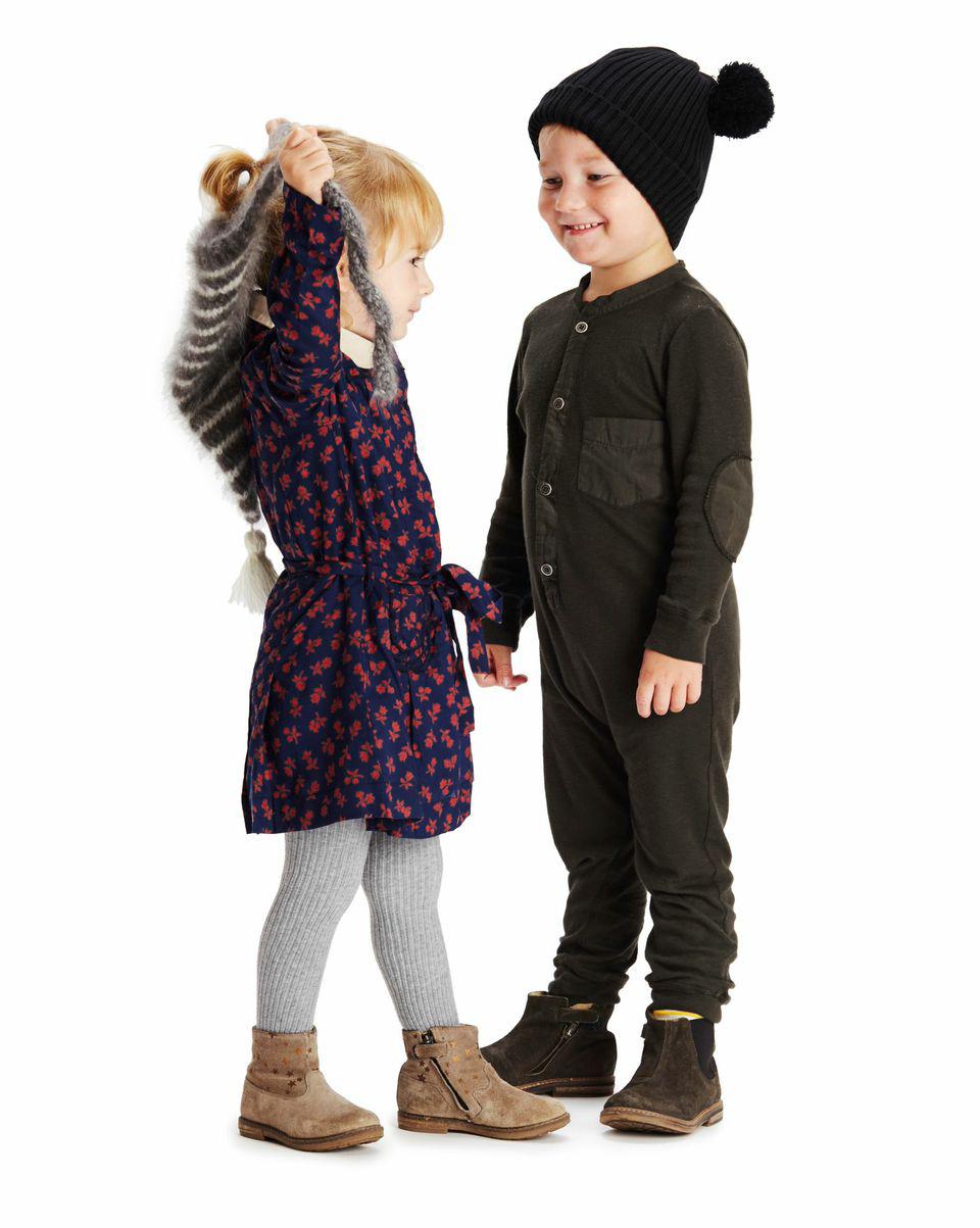 Zaikamoya hat | Caramel Baby & Child dress | Pom d'Api boots | C de C tights | Nico Nico long johns |