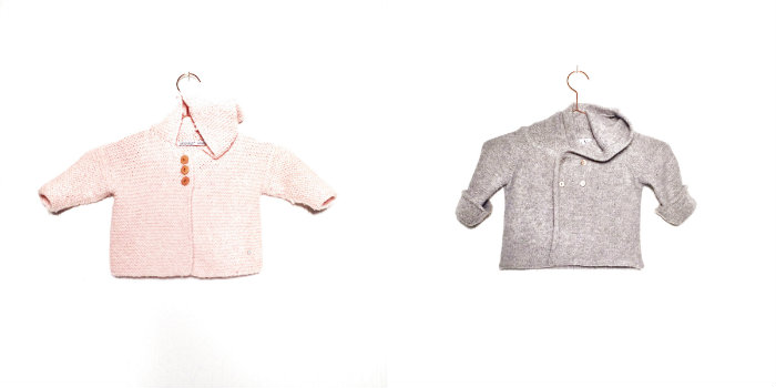 Pink Alpaca cardigan LN KNITS (  www.lnknits.com  ) | Grey cardigan La Petite V (  www.lapetitev.com  )