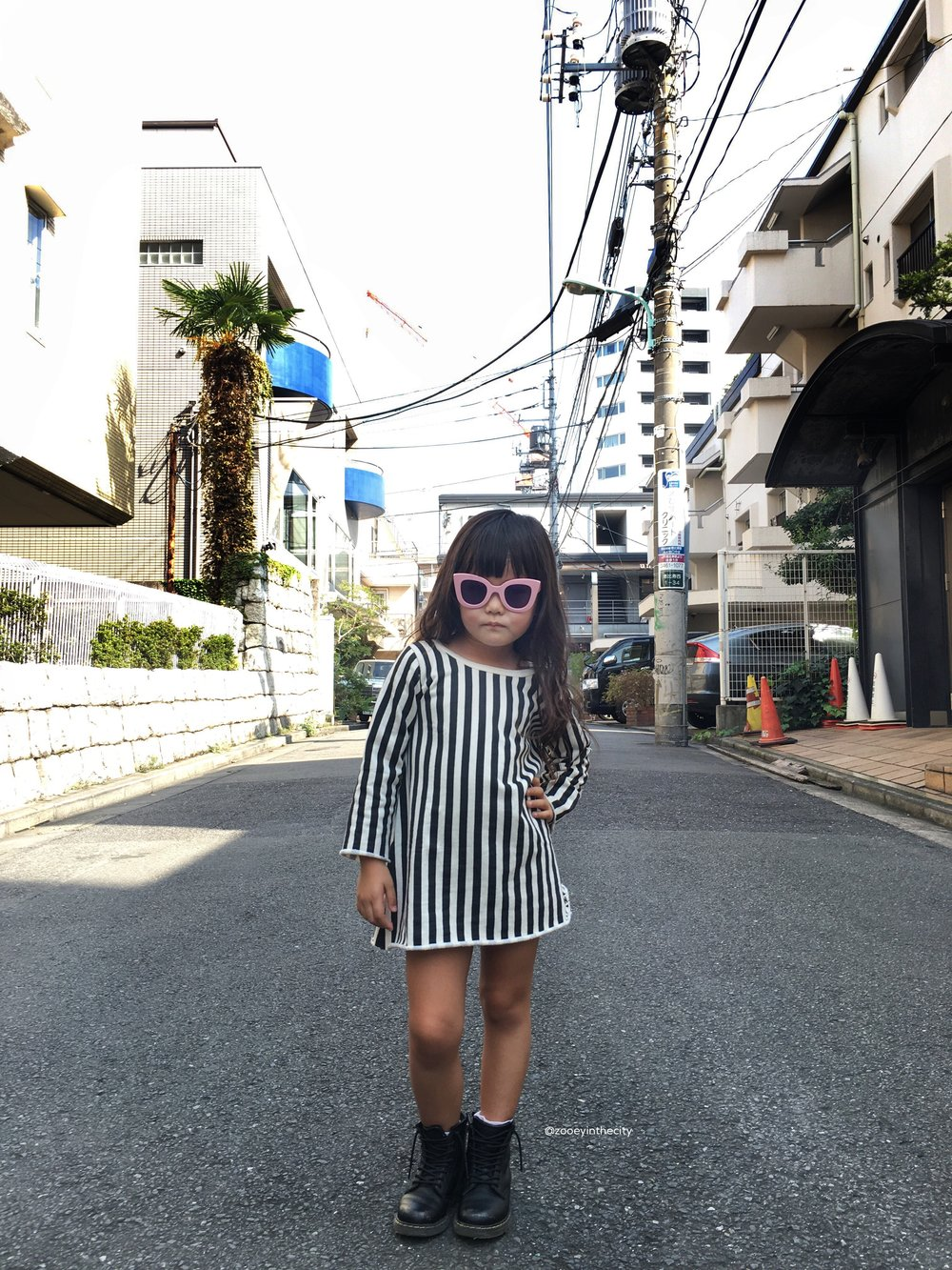 Sunnies:  Son + Daughters Eyewear ,Dress:  Go Gently Nation ,Boots: Dr Martens
