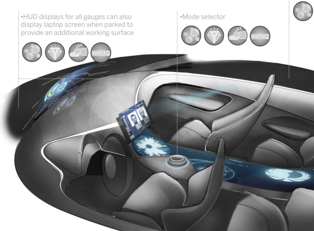 Luxury Electric Car Interior Concept for Acura (2010)