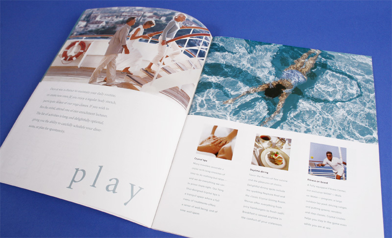 Crystal Cruises brochure design