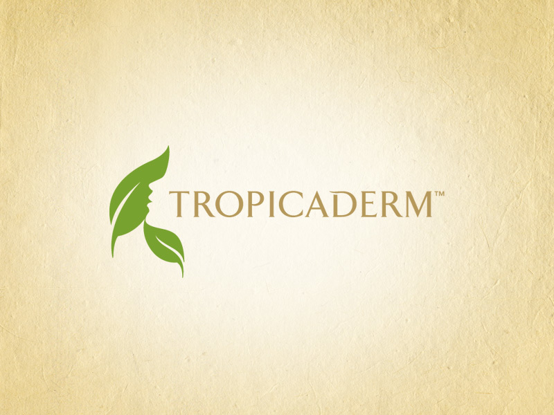 Tropicaderm logo design