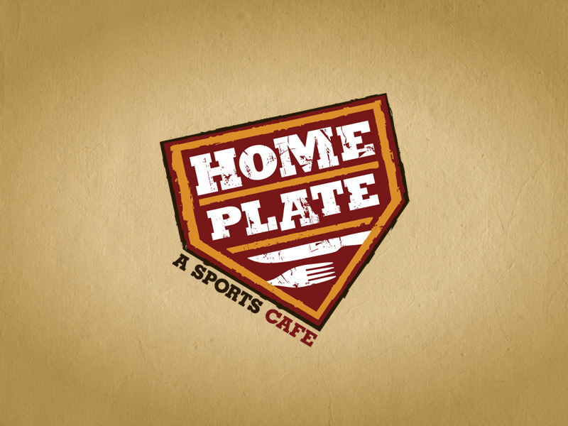 Home Plate Restaurant logo design