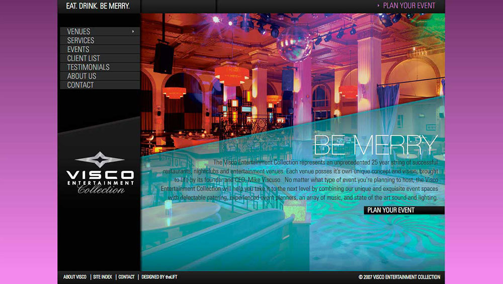 Visco Entertainment website design