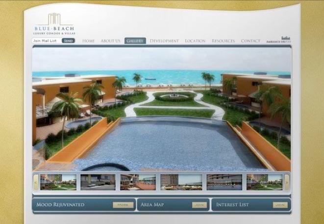 Blue Beach Resorts website design