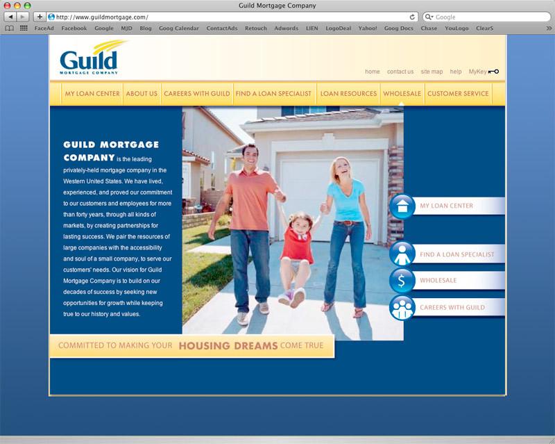 Guild Mortgage website design