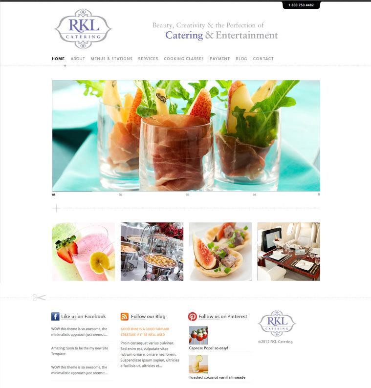 RKL Catering website design