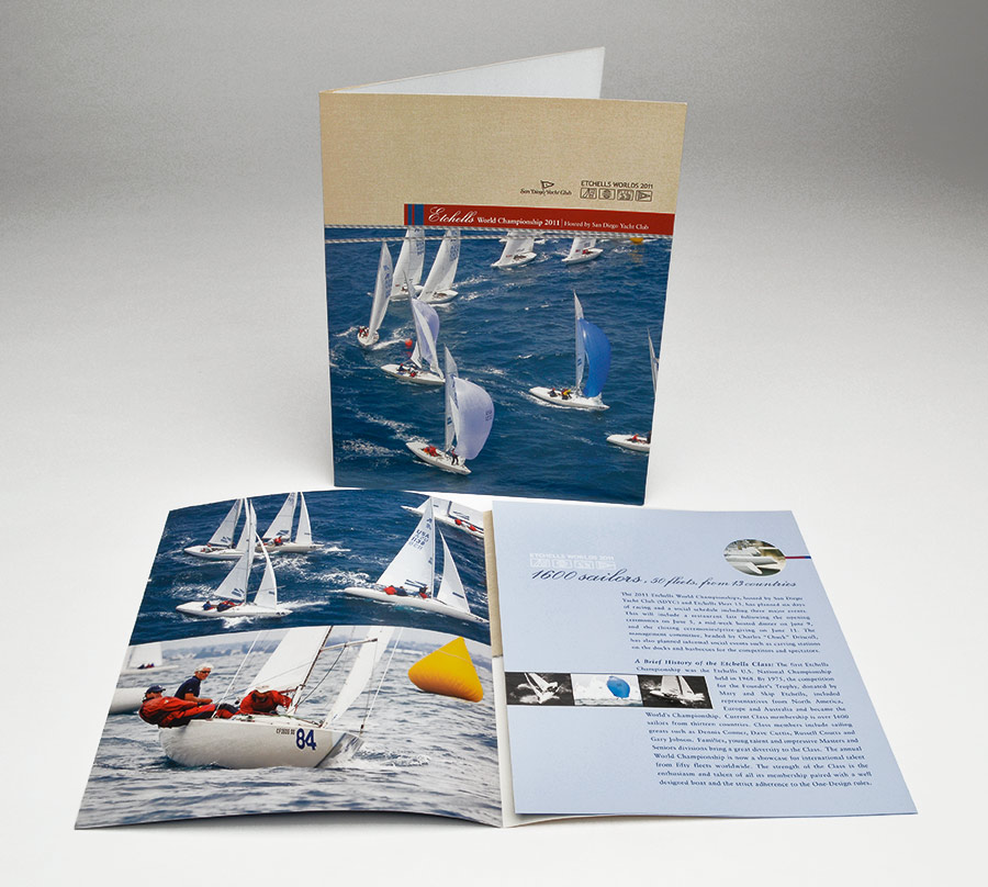 San Diego Yacht Club brochure design
