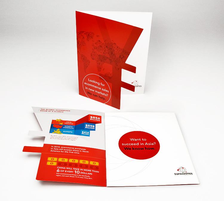 Transcosmos brochure design