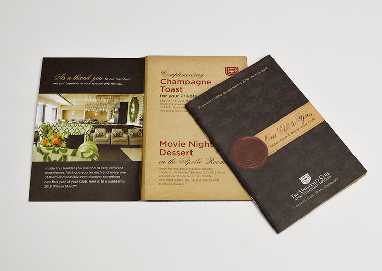 University Club brochure design