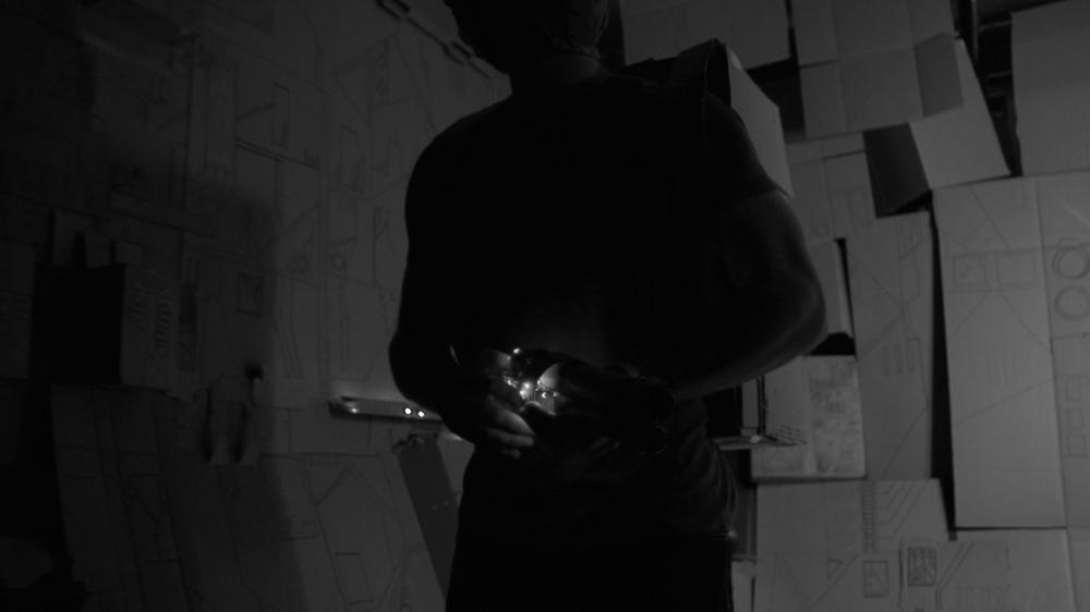 """Movie Still of Jordan Funk in """"The Spaceman"""""""