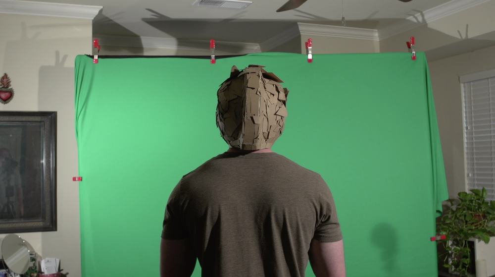 Green Screen shot of Jordan Funk - This will be composited with a stop-motion backdrop.