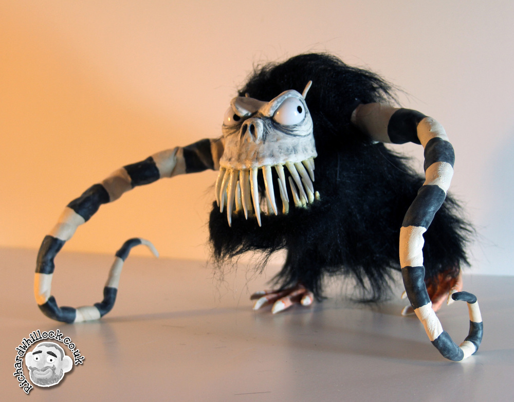 stop-motion puppet monster