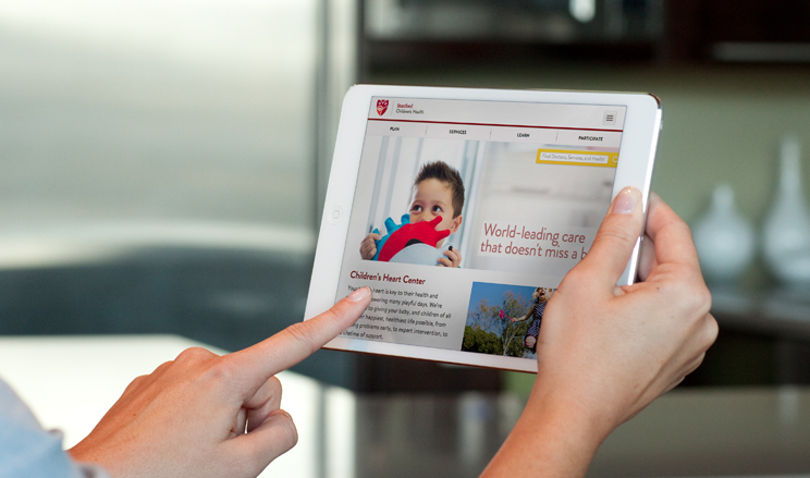 Stanford Children's Hospital is known for it's preeminence in caring for the most acute cases in children's health. This website redesign reflects the importance of the human touch and nature as set forth by it's founder Lucile Packard. The website is the first hospital site to be fully responsive across all platforms.