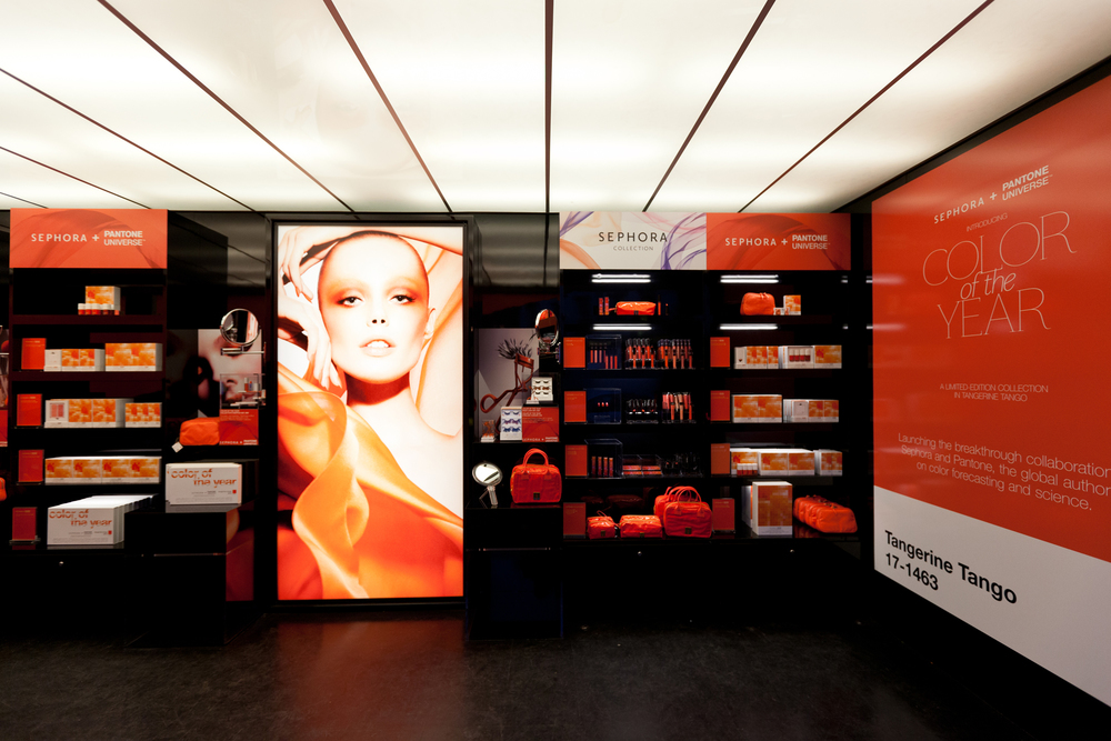 Interior of pop-up store in Manhattan.