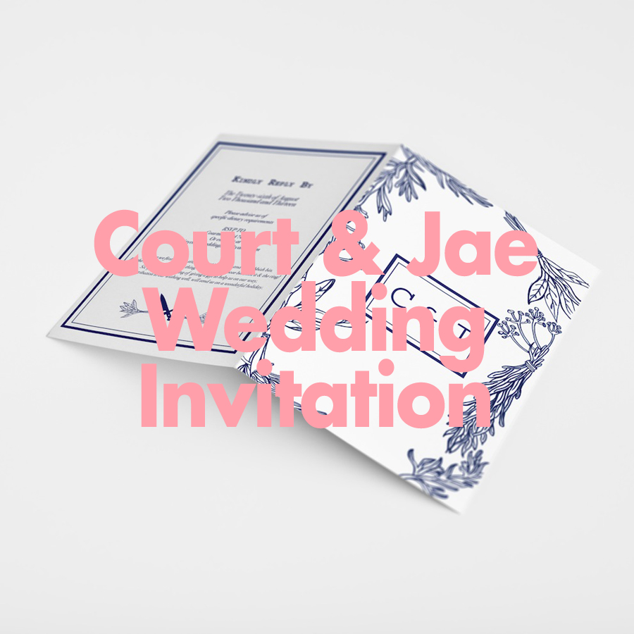 Courtney & Jae Wedding Invitation