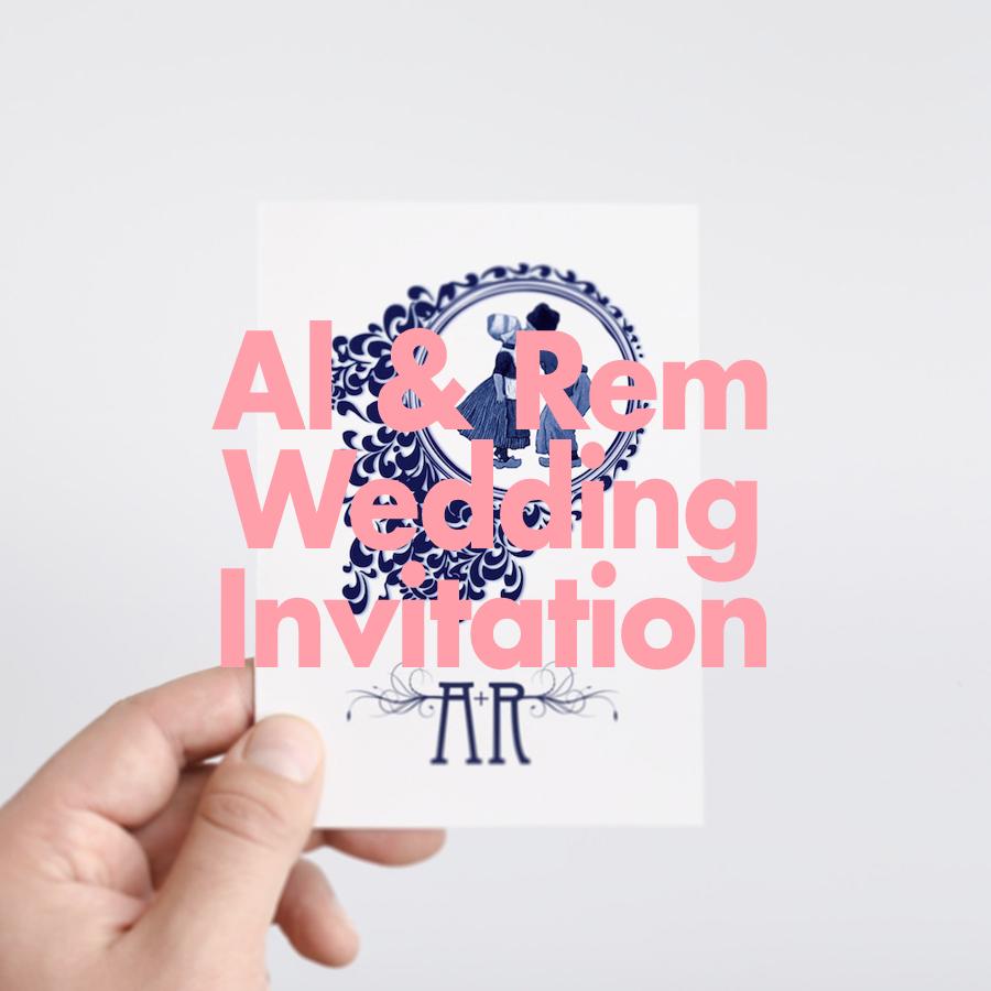 Alison & Remco Wedding Invitation