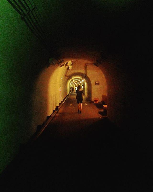 Echigo-Tsumari Art Triennale highlight : walking to the Periscope (yellow) . #echigotsumari #echigotsumariarttriennale #triennale #art #arttriennale #arttriennale2018 #tunnel #yellow #yellowlight #madarchitects with @katietectonic @madarchitects