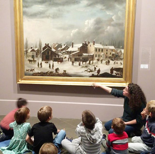 Yesterday at the Brooklyn Museum. Can you believe this was Brooklyn?? As the kids pointed out there were way more animals and way less cars! #kidslovemuseums #kidsloveart #artisplay @tizzyo8 @asyagribov #russianlanguagetours