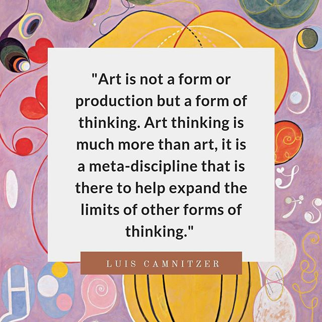 This is everything. This is why we do what we do! #artthinking #kidslovemuseums #artisplay #museumkids #iminlovewithluiscamnitzer . Background image is by Hilma af Klint- now at the Guggenheim. ;)