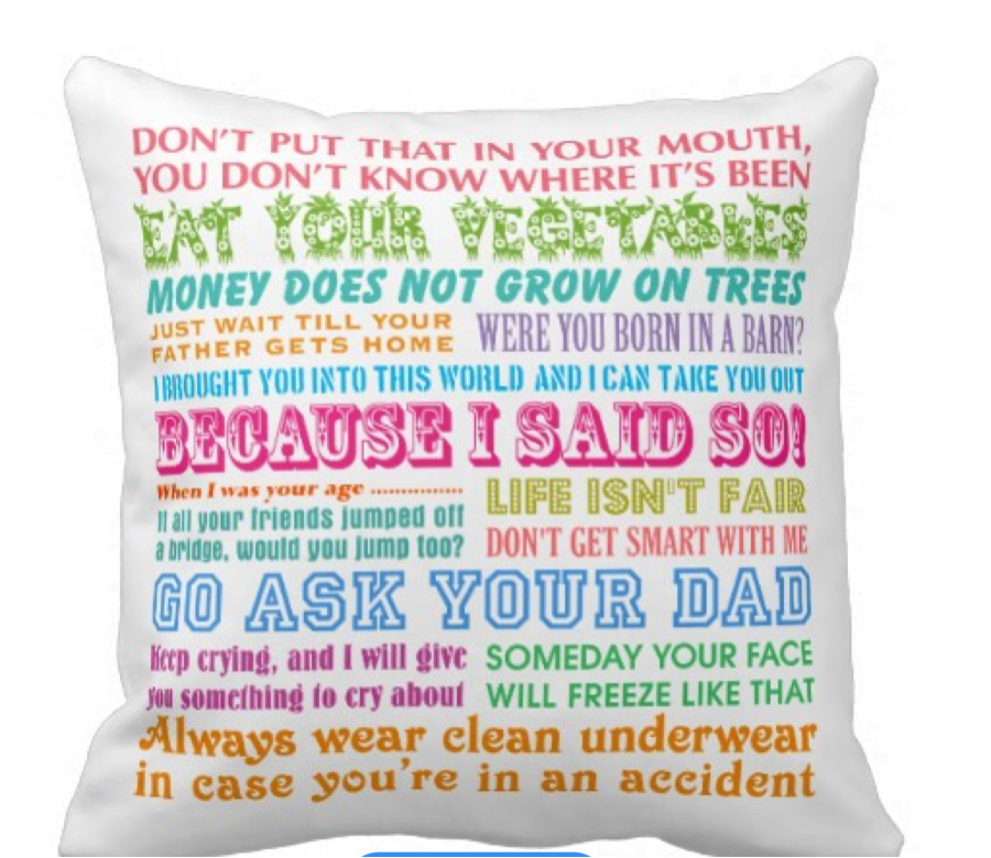 'Funny Mom's Sayings' Throw Pillow: $31.95 at   Zazzle