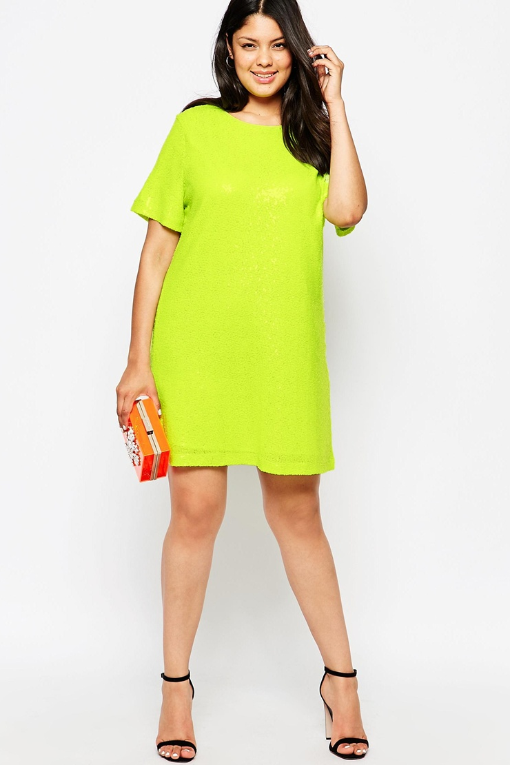ASOS            TRULY YOU SEQUIN T-SHIRT DRESS
