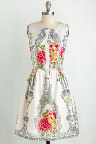 MODCLOTH   YOU WINSOME YOU BLOOM SOME DRESS