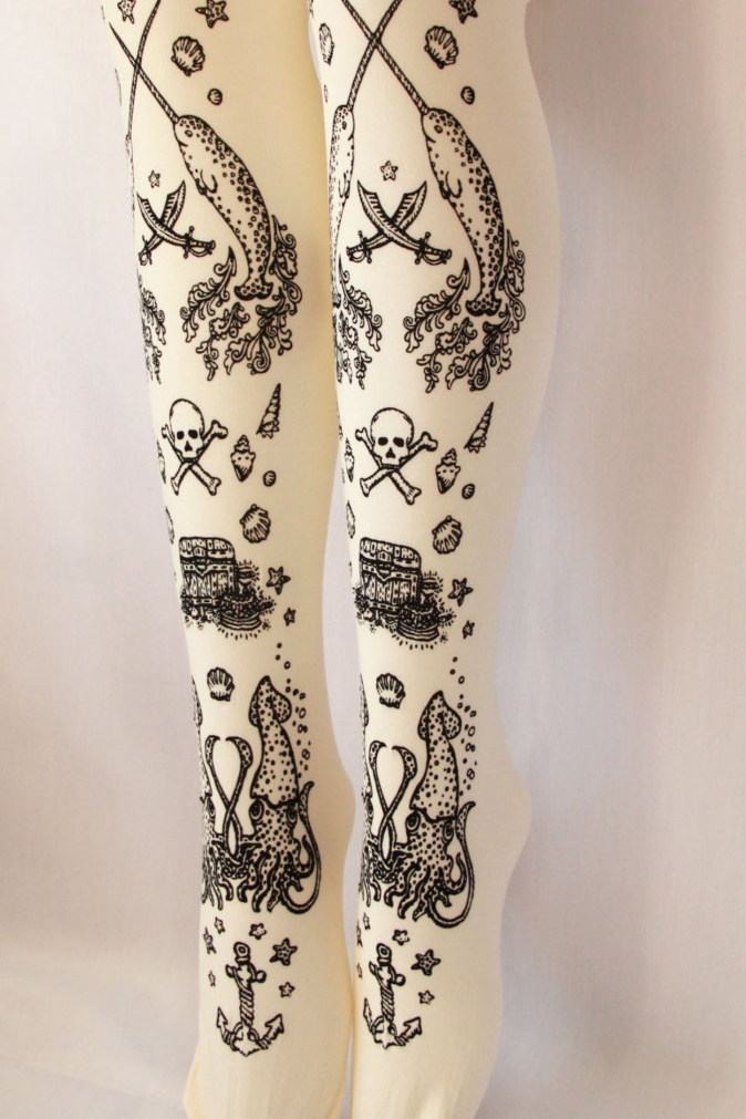 TEJAJAMILLA                  NARWHAL TATTOO TIGHTS