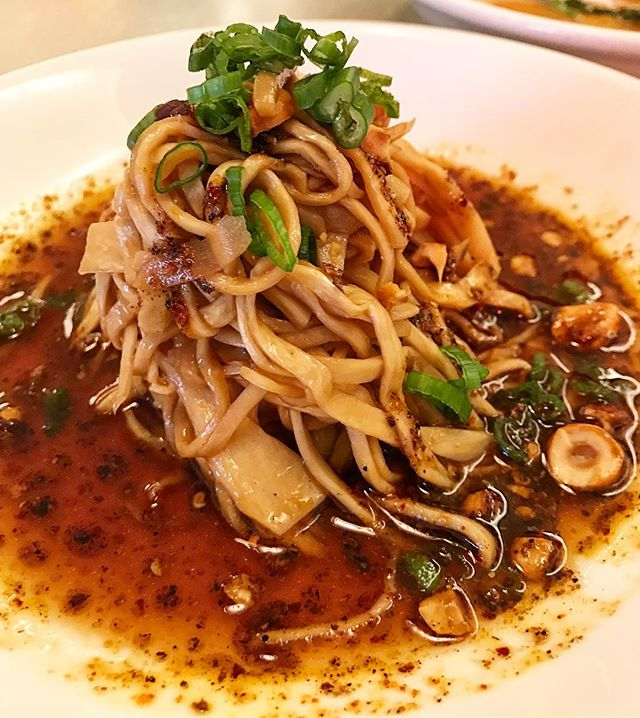 "New dish alert!  Coming to Ivan Ramen, king Trumpet Mushroom ""Noodles"" with roasted hazelnuts, shoyu tare and fragrant chili oil. Vegan and gluten free, so very delicious. Lots of new winter dishes coming."
