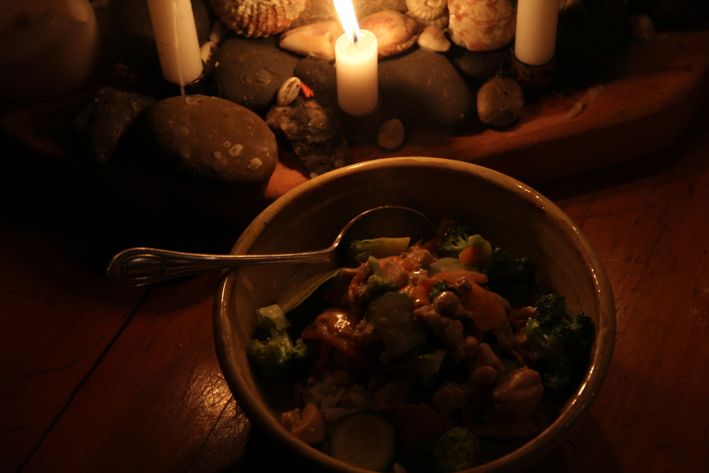 161:365 29-8-14 Curry and candlelight