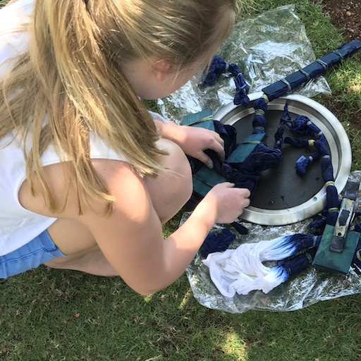 - We will guide you through all the steps. The beauty of indigo dyeing is that no 2 sarongs will be exactly alike and there are no mistakes. Everyone creates a beautiful piece.
