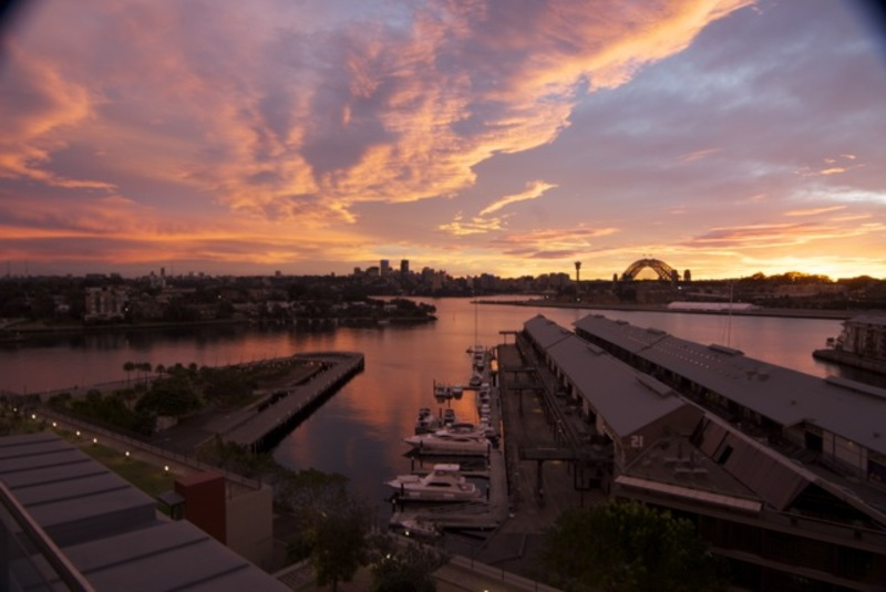 The view from 731/8 Point Street, Pyrmont